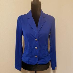 Forever 21 Blue Knit Blazer Sz S Like New!!